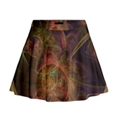 Abstract Colorful Art Design Mini Flare Skirt