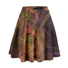 Abstract Colorful Art Design High Waist Skirt