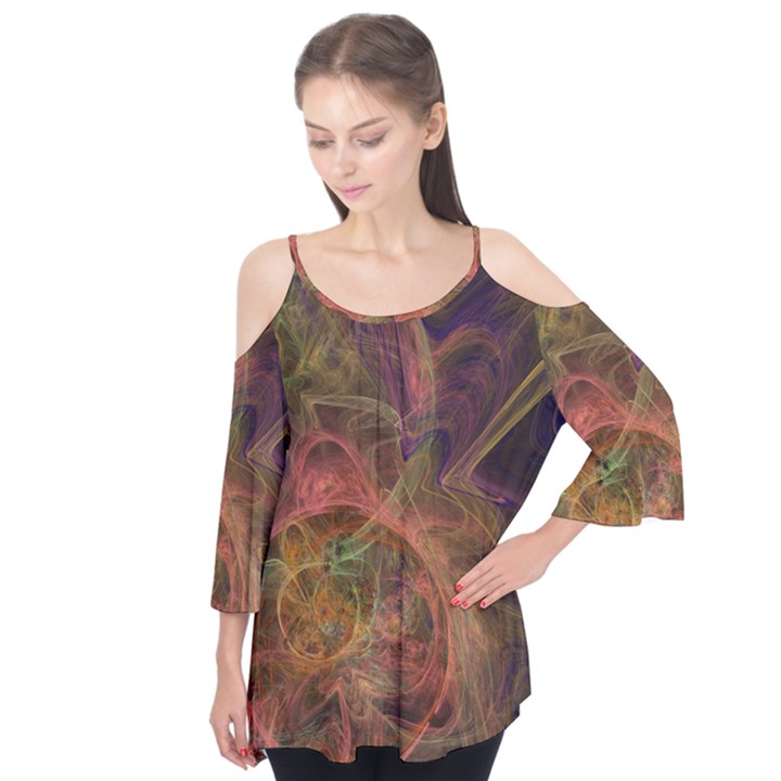Abstract Colorful Art Design Flutter Tees