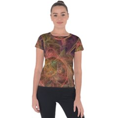Abstract Colorful Art Design Short Sleeve Sports Top