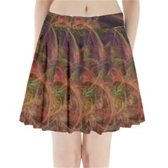 Abstract Colorful Art Design Pleated Mini Skirt