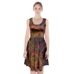 Abstract Colorful Art Design Racerback Midi Dress