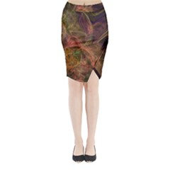 Abstract Colorful Art Design Midi Wrap Pencil Skirt