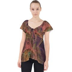 Abstract Colorful Art Design Lace Front Dolly Top