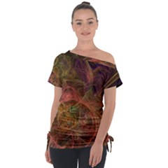 Abstract Colorful Art Design Tie Up Tee