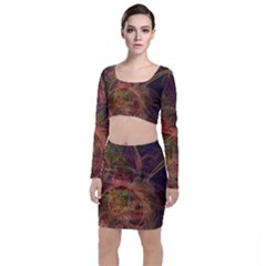 Abstract Colorful Art Design Top And Skirt Sets
