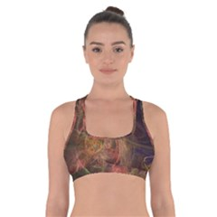 Abstract Colorful Art Design Cross Back Sports Bra