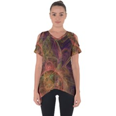 Abstract Colorful Art Design Cut Out Side Drop Tee