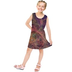 Abstract Colorful Art Design Kids  Tunic Dress