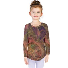 Abstract Colorful Art Design Kids  Long Sleeve Tee