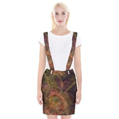 Abstract Colorful Art Design Braces Suspender Skirt