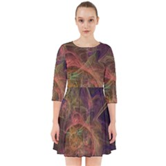 Abstract Colorful Art Design Smock Dress