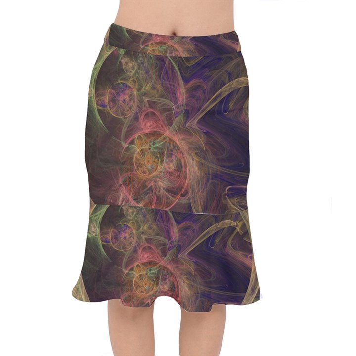 Abstract Colorful Art Design Mermaid Skirt