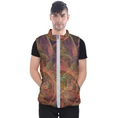 Abstract Colorful Art Design Men s Puffer Vest