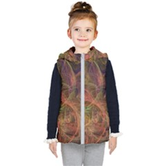 Abstract Colorful Art Design Kid s Hooded Puffer Vest