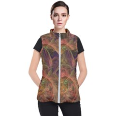 Abstract Colorful Art Design Women s Puffer Vest