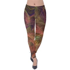 Abstract Colorful Art Design Velvet Leggings