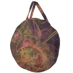 Abstract Colorful Art Design Giant Round Zipper Tote