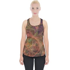 Abstract Colorful Art Design Piece Up Tank Top