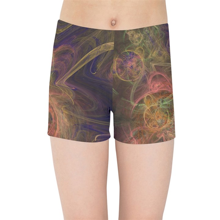 Abstract Colorful Art Design Kids Sports Shorts