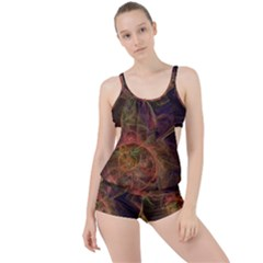 Abstract Colorful Art Design Boyleg Tankini Set