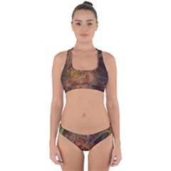 Abstract Colorful Art Design Cross Back Hipster Bikini Set
