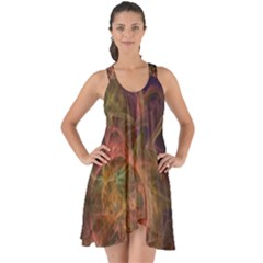 Abstract Colorful Art Design Show Some Back Chiffon Dress