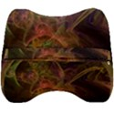 Abstract Colorful Art Design Velour Head Support Cushion View2