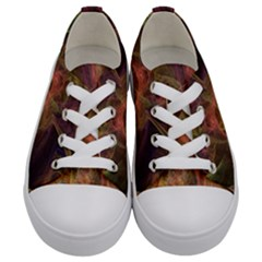 Abstract Colorful Art Design Kids  Low Top Canvas Sneakers