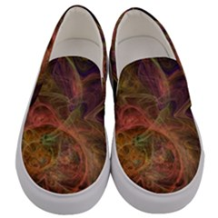Abstract Colorful Art Design Men s Canvas Slip Ons