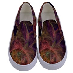Abstract Colorful Art Design Kids  Canvas Slip Ons