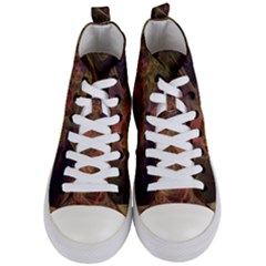 Abstract Colorful Art Design Women s Mid Top Canvas Sneakers