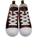 Abstract Colorful Art Design Kid s Mid-Top Canvas Sneakers View1