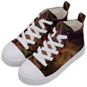 Abstract Colorful Art Design Kid s Mid-Top Canvas Sneakers View2