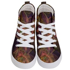 Abstract Colorful Art Design Kid s Hi Top Skate Sneakers