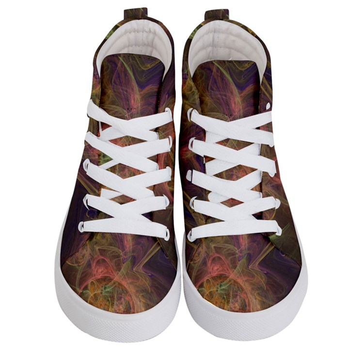 Abstract Colorful Art Design Kid s Hi-Top Skate Sneakers