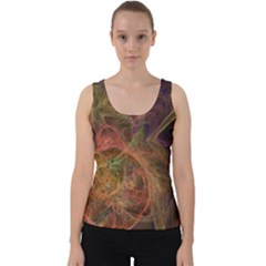 Abstract Colorful Art Design Velvet Tank Top
