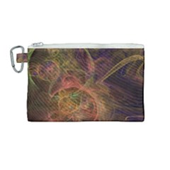 Abstract Colorful Art Design Canvas Cosmetic Bag (medium)
