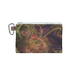 Abstract Colorful Art Design Canvas Cosmetic Bag (small)