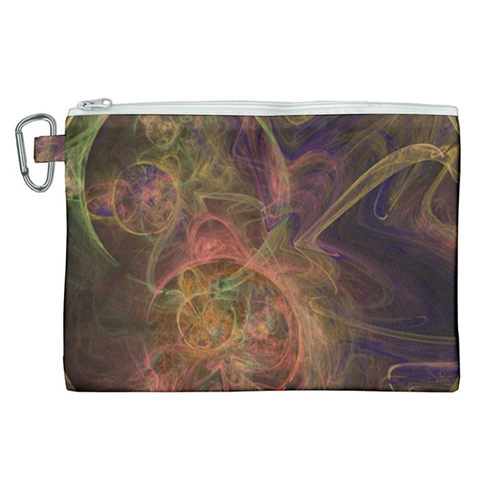 Abstract Colorful Art Design Canvas Cosmetic Bag (XL)