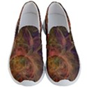 Abstract Colorful Art Design Men s Lightweight Slip Ons View1