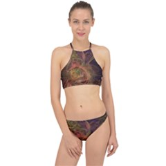 Abstract Colorful Art Design Racer Front Bikini Set