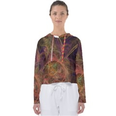 Abstract Colorful Art Design Women s Slouchy Sweat
