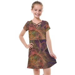 Abstract Colorful Art Design Kids  Cross Web Dress