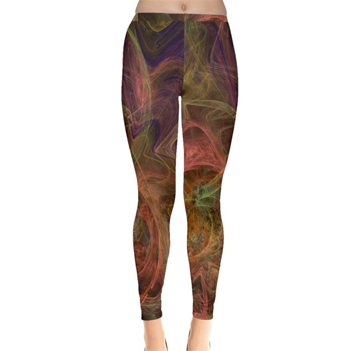 Abstract Colorful Art Design Inside Out Leggings