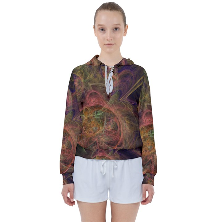 Abstract Colorful Art Design Women s Tie Up Sweat