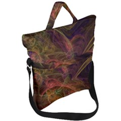 Abstract Colorful Art Design Fold Over Handle Tote Bag