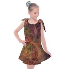 Abstract Colorful Art Design Kids  Tie Up Tunic Dress