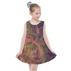 Abstract Colorful Art Design Kids  Summer Dress