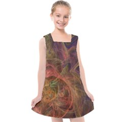 Abstract Colorful Art Design Kids  Cross Back Dress
